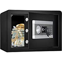 Fireproof and Waterproof Safe Cabinet Security Box, Digital Combination Lock Safe with Keypad LED Indicator, for Cash…