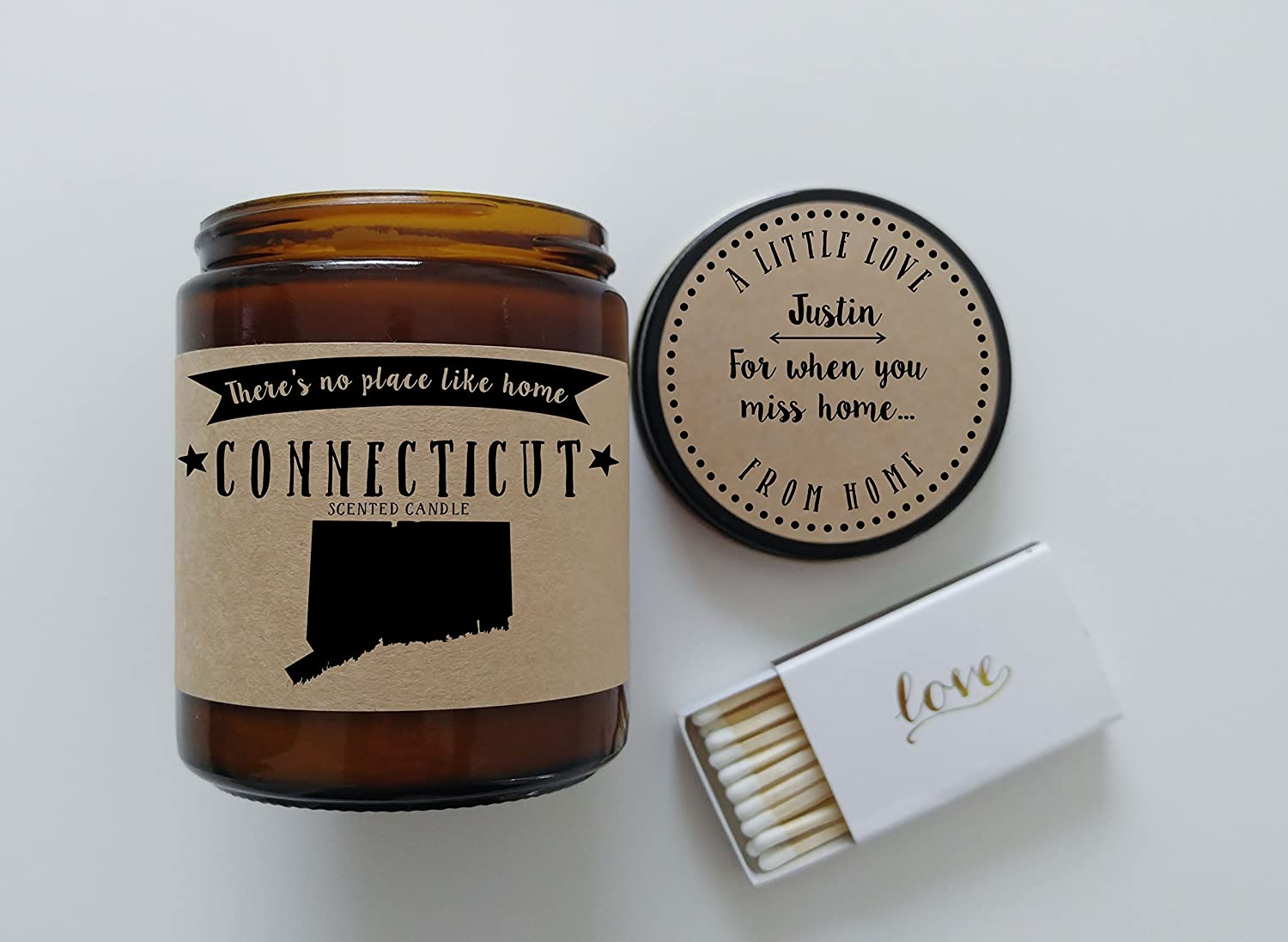 Amazon.com: Connecticut Scented Candle Missing Home Homesick Gift ...