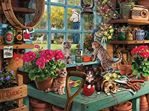 White Mountain Puzzles Curious Kittens 1000 Piece Puzzle, 1 EA