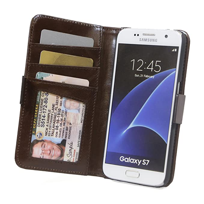 the latest 6c801 b5543 RFID Wallet Samsung Galaxy S7 Phone Cases - Protective Wallets - Best RFID  Blocking Wallet (S7 Light Brown)
