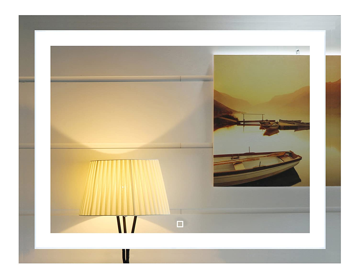 Amazon.com: 36x28 Inch Wall Mounted Led Lighted Bathroom Mirror With ...