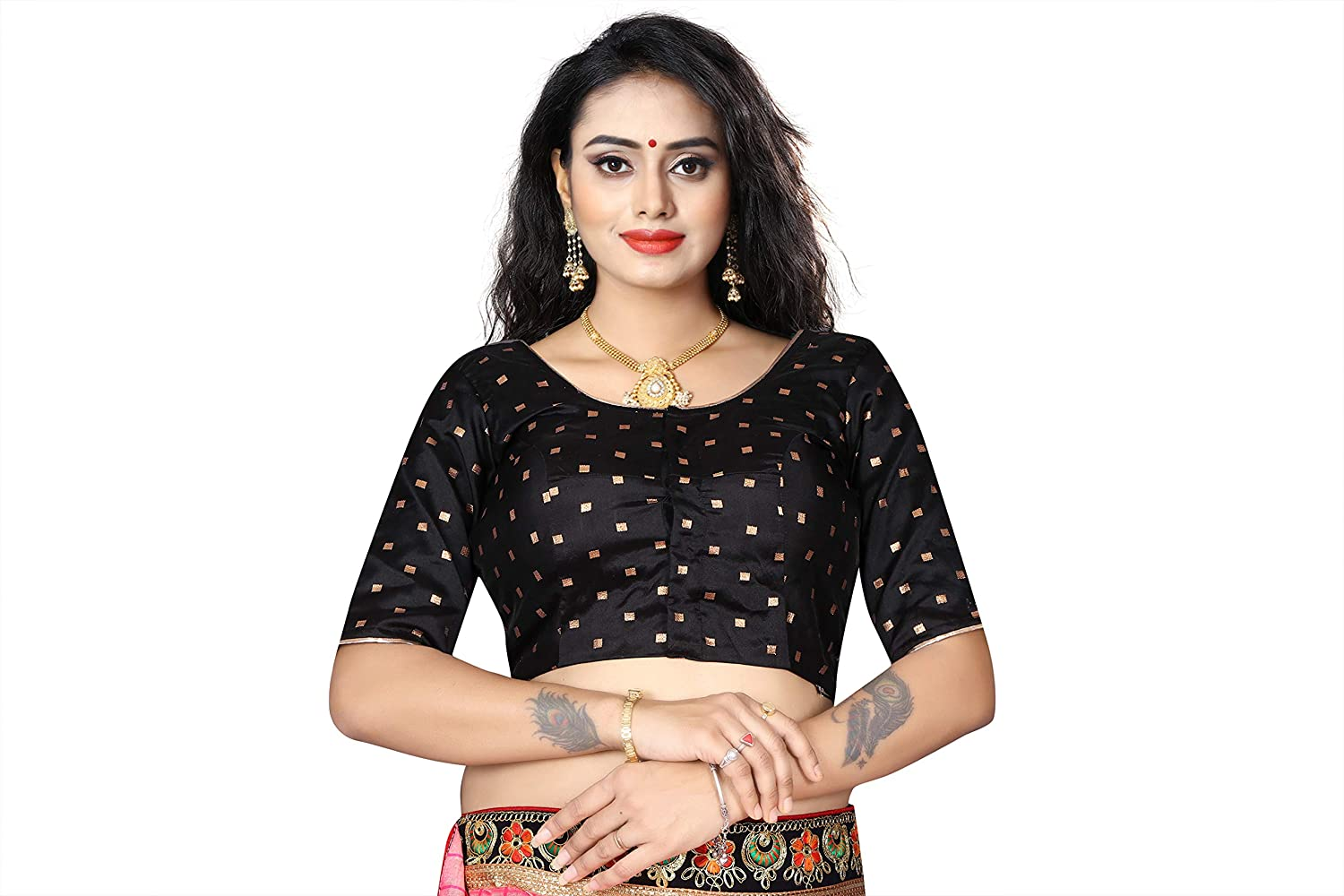 Globon Fashion Designer Women S Party Wear Bollywood Readymade Indian Style Saree Blouse Padded Brocade Choli At Amazon Women S Clothing Store