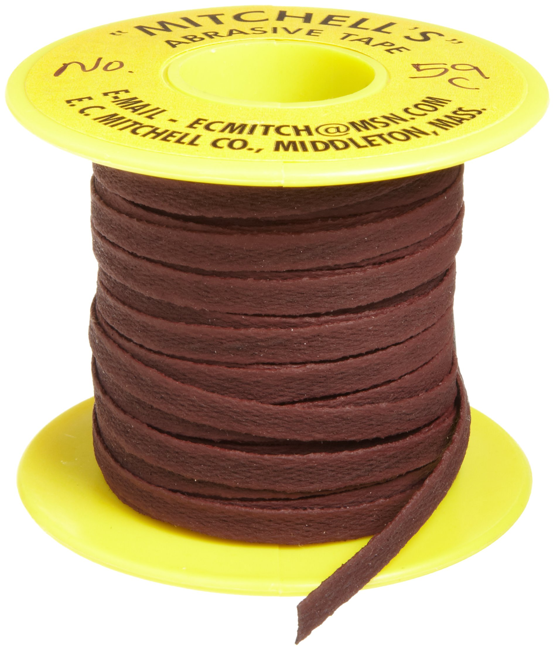 Mitchell Abrasives 59-C Flat Crocus Polishing Tape, 1/4'' Wide x 25 Feet