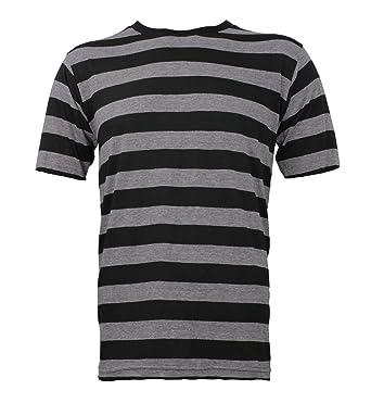 0cf0619270 Largemouth Striped Short Sleeve Shirt Black Stone Grey Adult ...