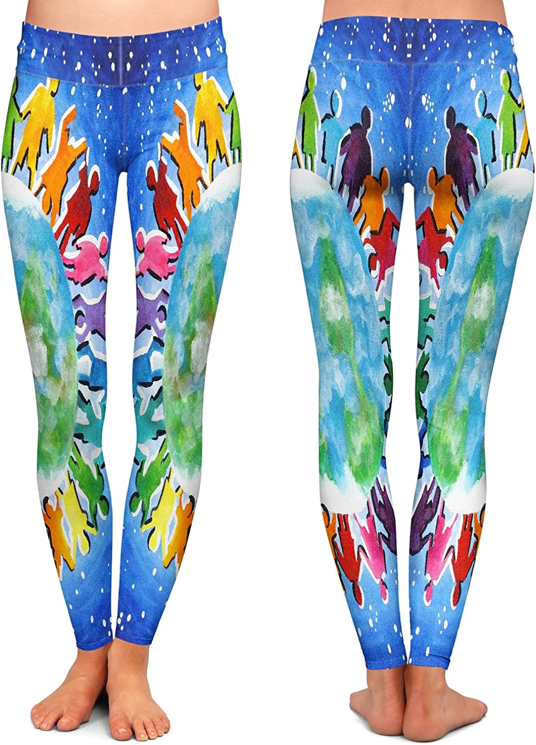 Athletic Yoga Leggings from DiaNoche by nJoy Art The World is My Playground