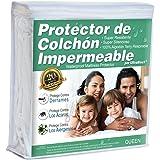 UltraBlock Protector de colchón impermeable Queen - Funda de Terry de algodón Suave Premium