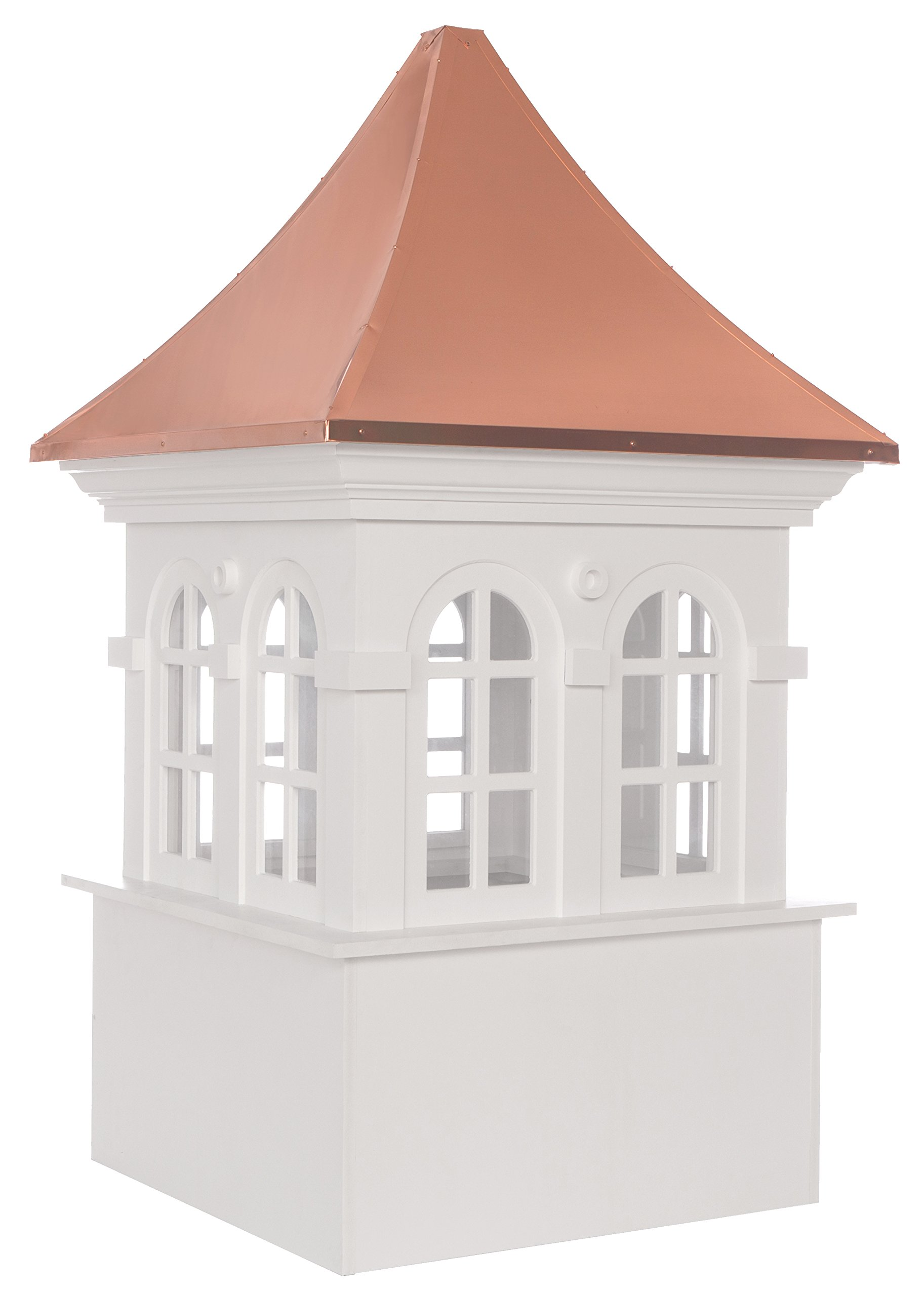 Smithsonian Stafford Vinyl Cupola with Copper Roof 36'' x 58'' by Good Directions