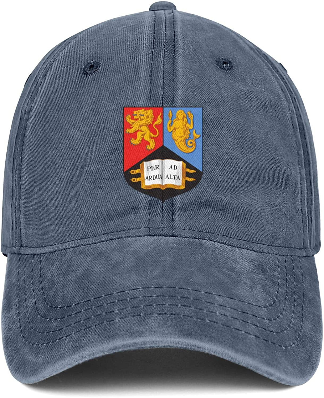 Boys Washed Baseball Cap University-of-Birmingham-Emblem-Classic Strapback Running Cap