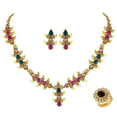 Buy Dhanmanju Latest Small Design Necklace Set For Women Modern