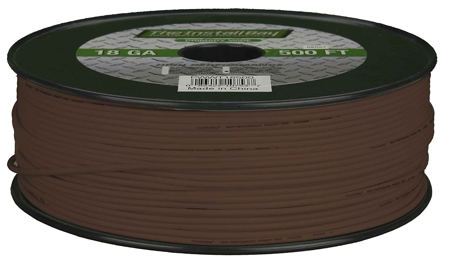 500 Feet Install Bay PWBN16500 Primary Wire 16 Gauge Brown