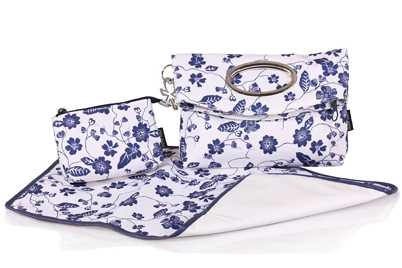 okiedog LUXE DELFT LILLIPUT 31030 elegante Clutch/borsa discoteca incl. accessori, bianco/blau