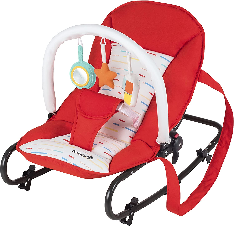 Safety 1st 2822260000 Koala - Gandulita Reclinable, Fija o Balancín, Color Red Lines