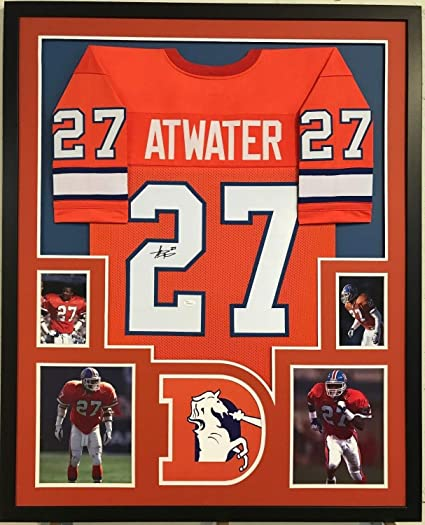 huge discount 1bb75 debdf Steve Atwater Autographed Signed Custom Framed Denver ...