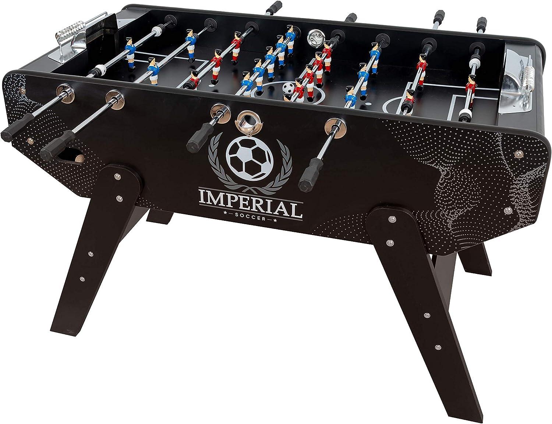 Futbolín Profesional Imperial - Futbolín para Adultos con Retorno de Bolas (Incluidas) - Futbolín Grande, Acabados Aluminio - Medidas Campo: 117x68cm: Amazon.es: Juguetes y juegos
