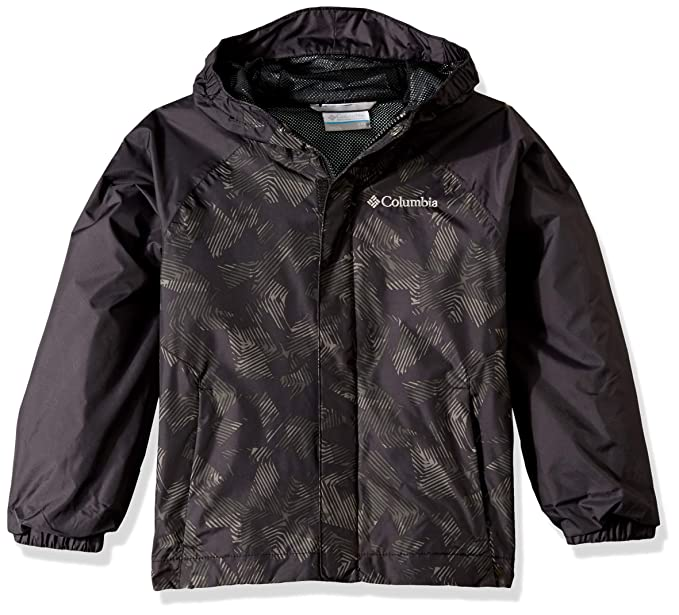 57323ef4f527c Columbia Youth Fast and Curious II Rain Jacket,Black Texture,X-Small