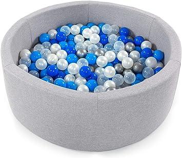 Fabriqu/é en EU Tweepsy B/éb/é Piscine A Balles pour Enfants Bambin 250 Balles 90x30cm Rond BKOZN3