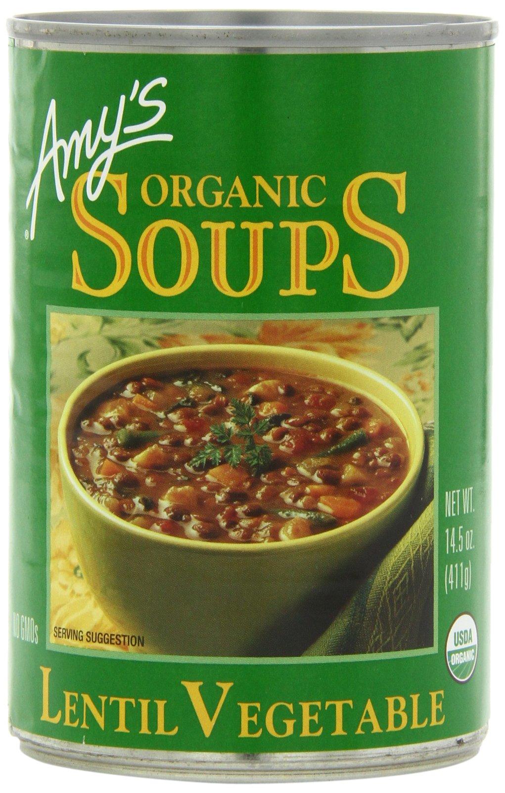 Amazoncom Amys Organic Soups Lentil Vegetable 145 Ounce Pack