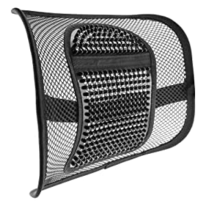 "ACVCY Lumbar Mesh Support for Office Chair or Car Seat,Breathable Comfortable Back Support for Office Chair Lumbar Support Cushion for All Types Car Seats Office Chair 12"" x 16"""