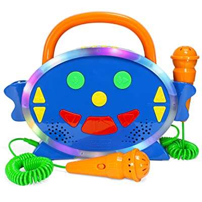 Karaoke Machine for Kids with 2 Microphones, Includes 100 Pre-Loaded Songs, Record & Playback, Voice Changer, and Bluetooth - Perfect for Toddlers & Up!: Toys & Games