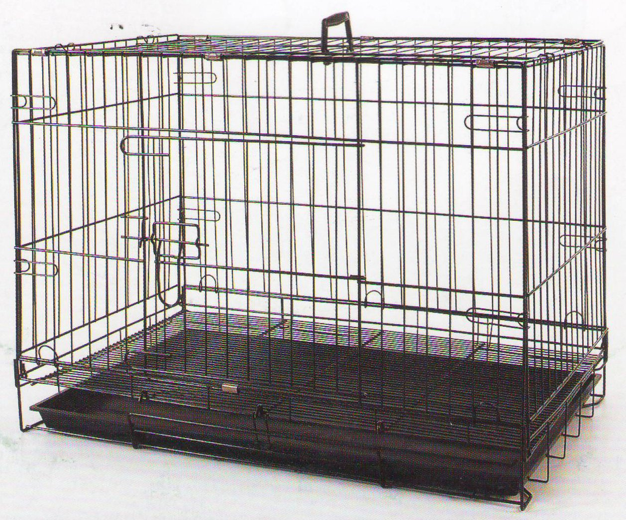 24 Inch Foldable Breeder Puppy Kitten Rabbit Training Cage With 1/2 inch Bottom Wire Grid Mesh Floor