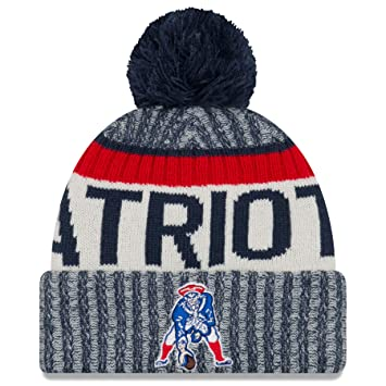 new product 66747 74c47 ... best price new england patriots new era 2017 historic throwback on  field sport knit beanie hat