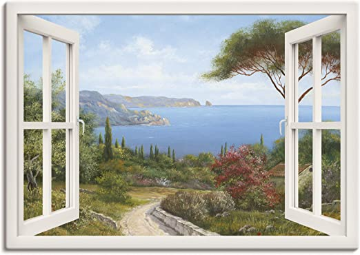 Artland Leinwandbild Tor Tür Fenster Durchgang Ausblick