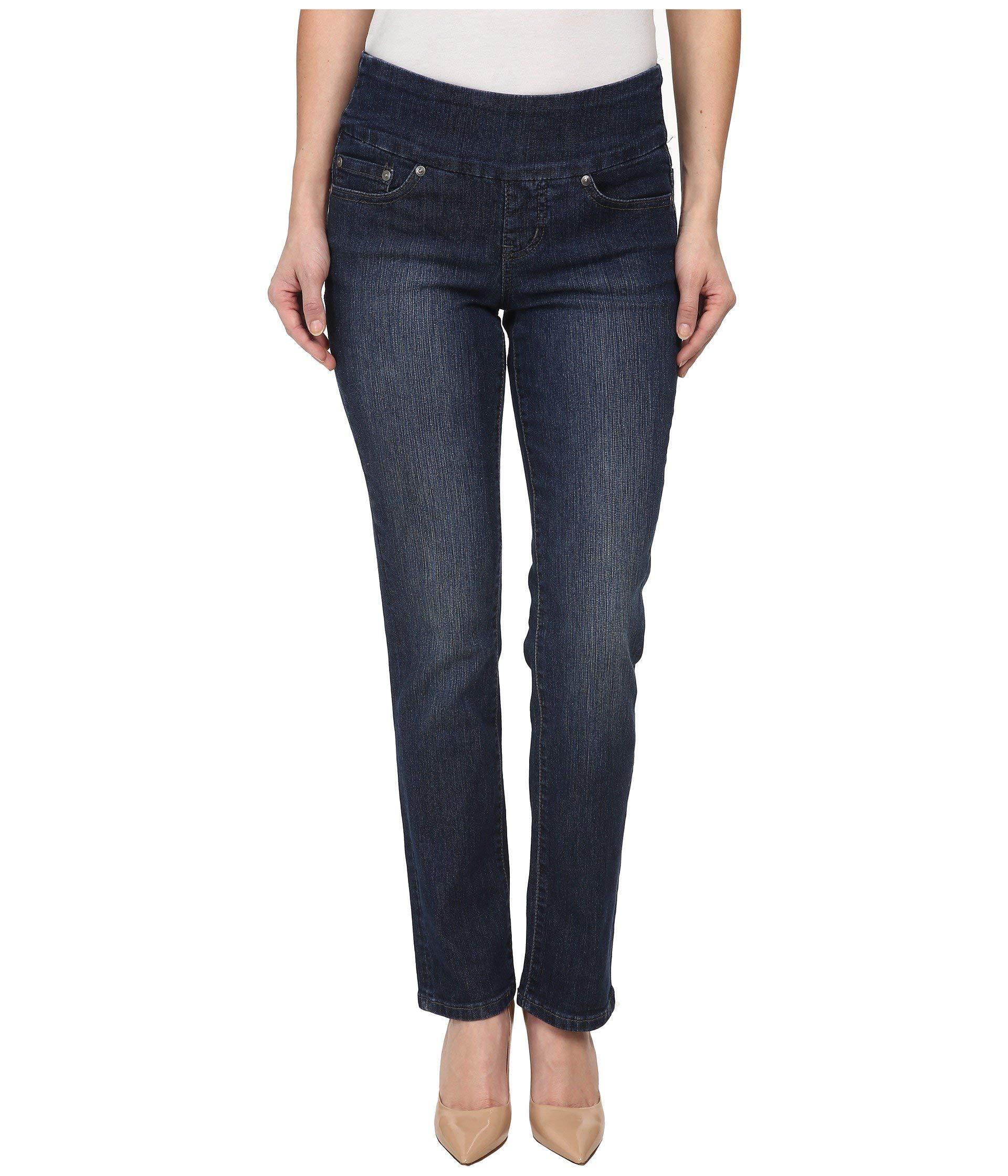 Jag Jeans Women's Petite Peri Pull On Straight Leg