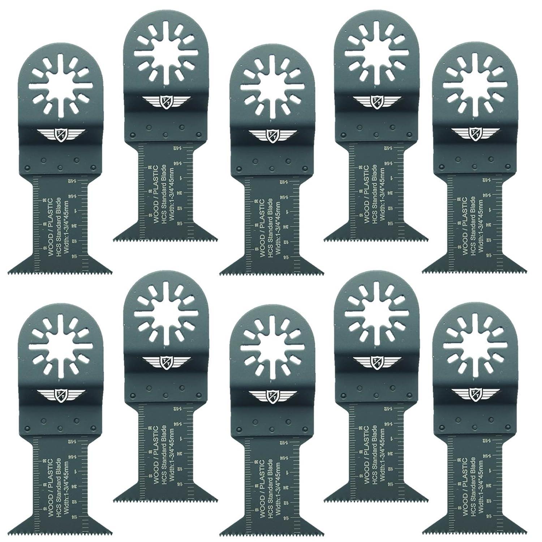 Makita Milwaukee Einhell Ergotools Hitachi Parkside Ryobi Worx Workzone Multitool Outil multifonction Accessoires Pas StarLock 10 x TopsTools UN44F/_10 44 mm pour coupe de bois pour Bosch Fein