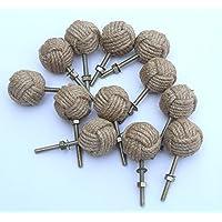 12 puxadores de porta nó – puxadores de gaveta náuticos – puxadores de gaveta de corda de juta P