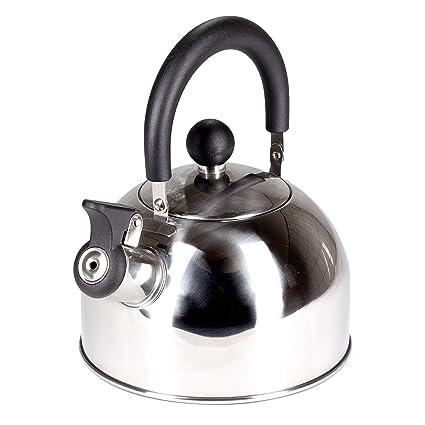 Kaliwaro Flauta Caldera de Acero Inoxidable, Tetera/hervidor de Agua para inducción Cocina de Gas Camping, 2,5L