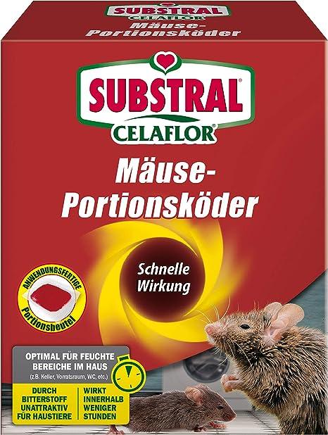 Substral Celaflor Mause Portionskoder Anwendungsfertiger Koder Zur Mause Bekampfung 20 X 10 G Portionsbeutel Amazon De Garten