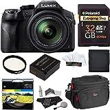 Panasonic LUMIX DMC FZ300 4K, Point and Shoot Camera with Leica DC Lens 24X Zoom Black + Polaroid Accessory Kit + 32GB…