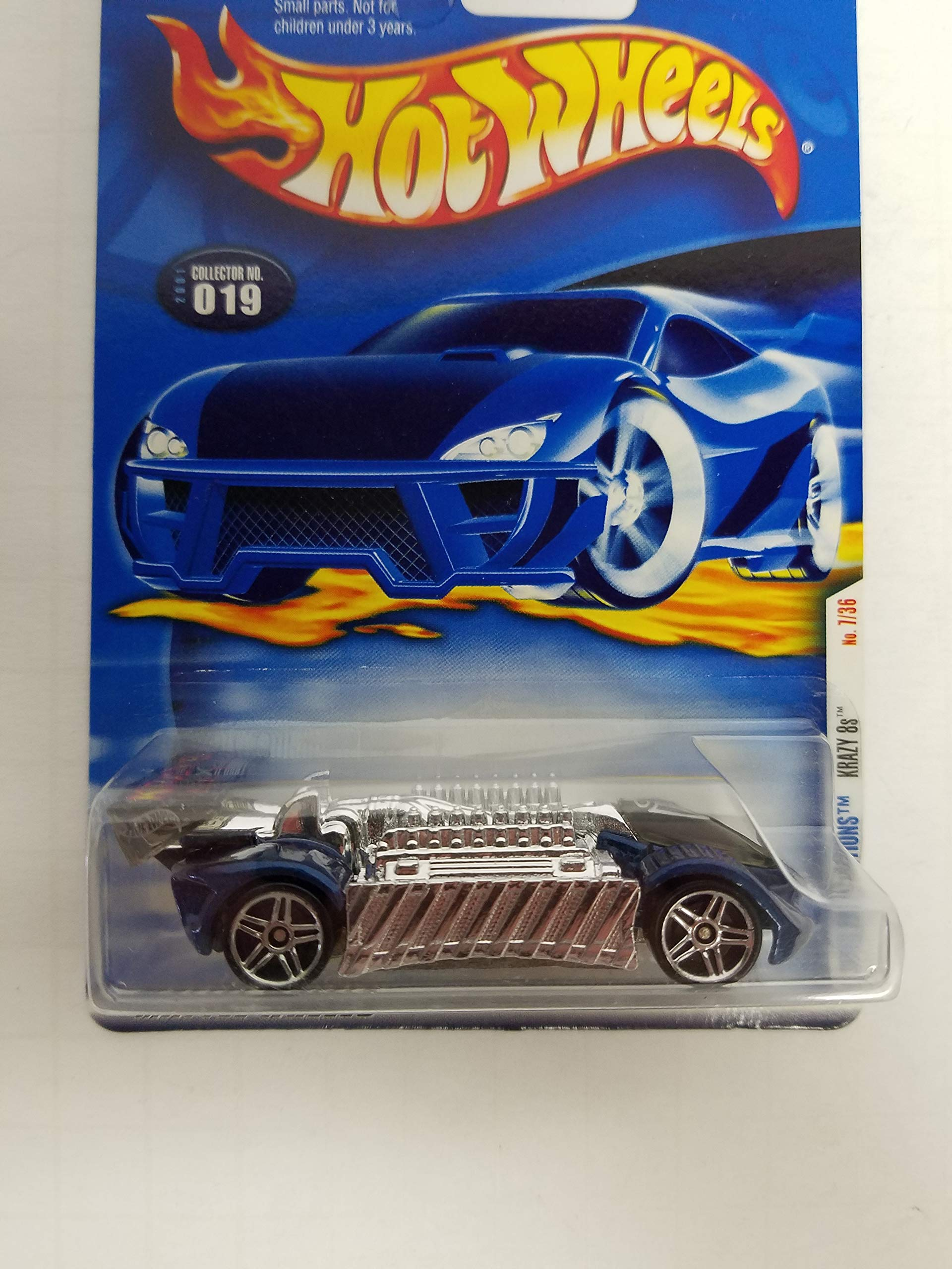 Krazy 8s Hot Wheels 2001 First Editions diecast 1/64 scale car No. 019