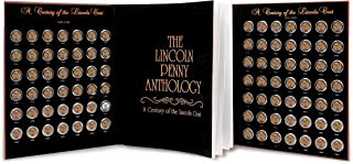 product image for Lincoln Penny Anthology Coffee Table Book and Coin Set| 1909 to 1999 Wheat and Memorial Cents | Certificate of Authenticity | Collectible Coins 20th Century |
