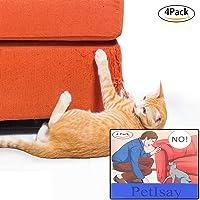 PetIsay Protectores de Muebles Gatos (Juego de 4, 46 L x 14 cm W), Hojas Autoadhesivas con pasadores retorcidos, Repelente de Gato para Muebles - Protector de sofá Cat
