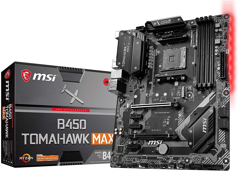 MSI Arsenal Gaming AMD Ryzen 2ND and 3rd Gen AM4 M.2 USB 3 DDR4 DVI HDMI Crossfire ATX Motherboard (B450 Tomahawk Max) (B450TOMAMAX) (Renewed)