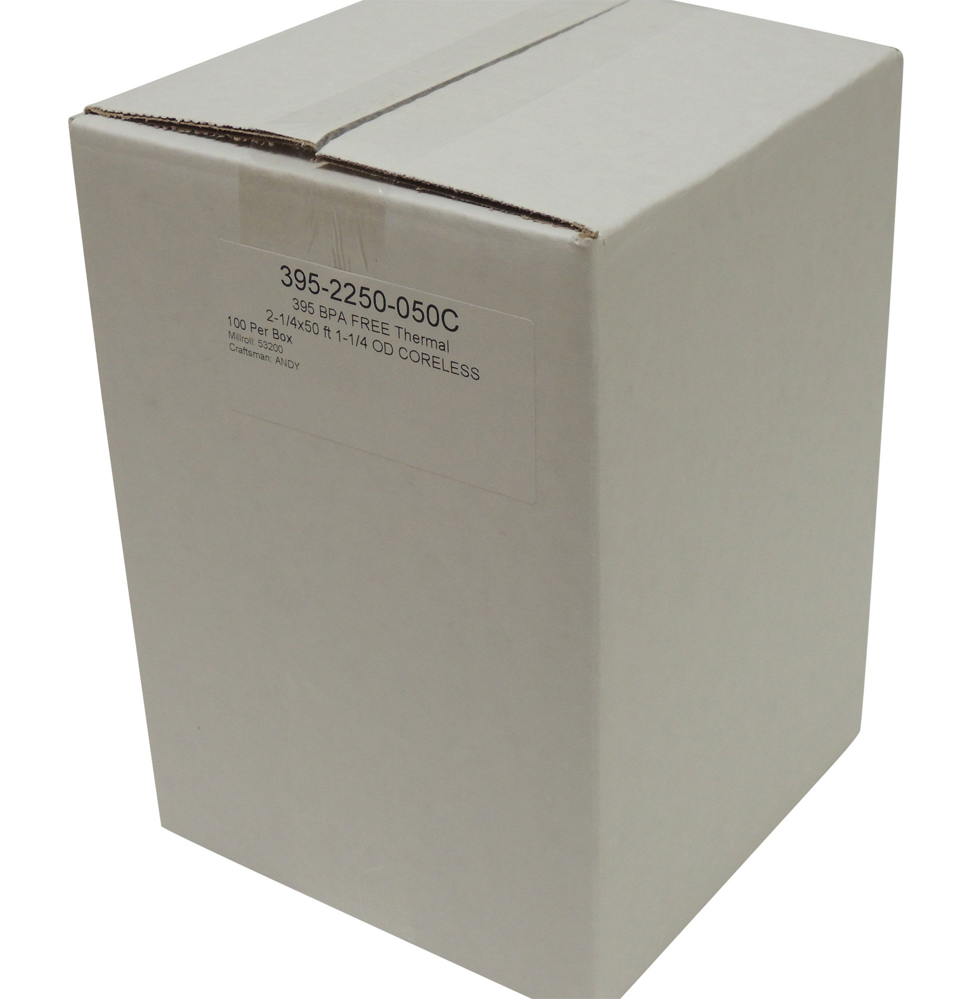 Thermal Paper 2-1/4'' x 50 ft, 1.25'' / 30mm Diameter, CORELESS, BPA Free, 100 Rolls by POS1 (Image #3)