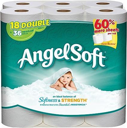 Amazon Com Angel Soft Bath Tissue 18 Double Rolls Health Personal Care