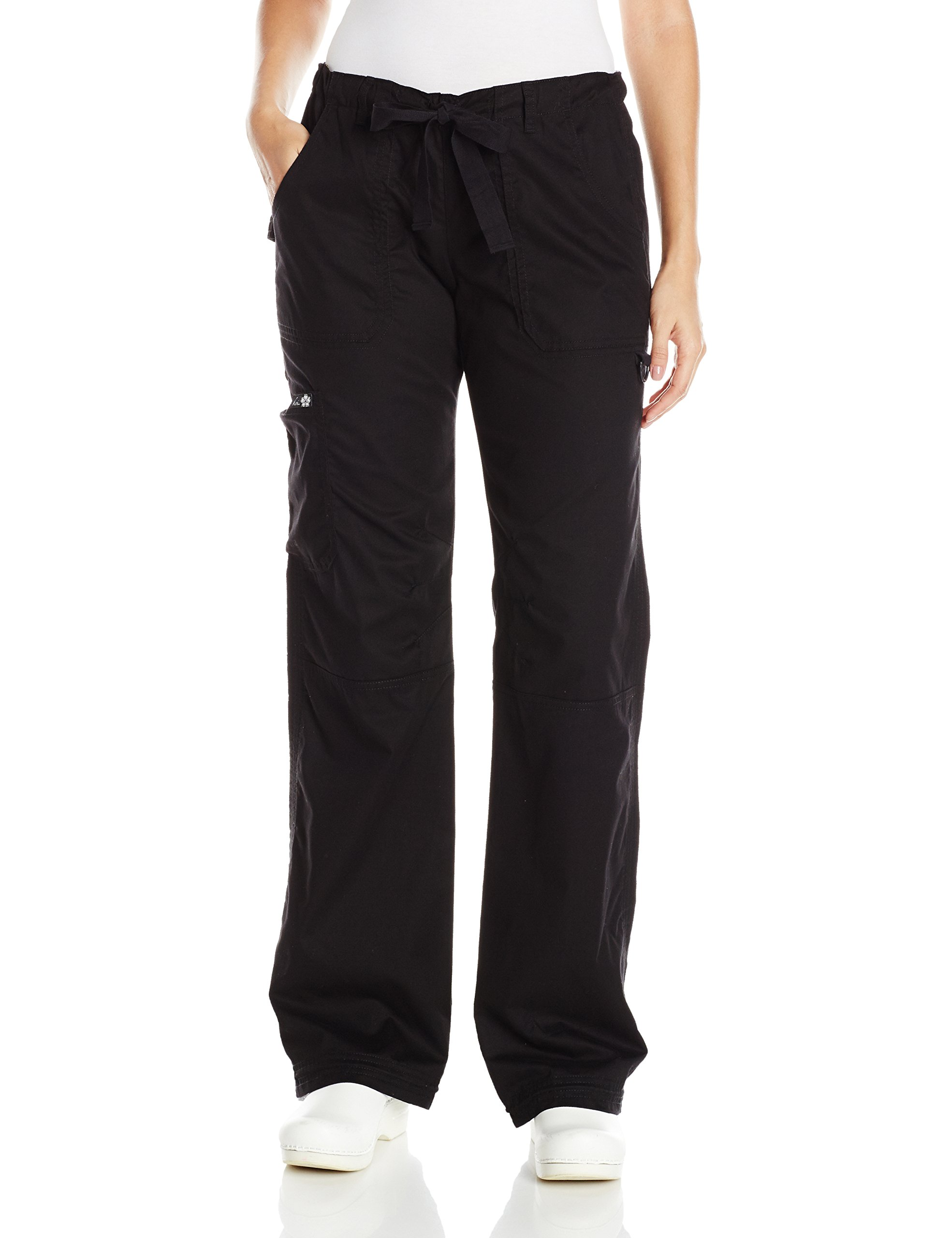 KOI Women's Tall Lindsey Ultra Comfortable Cargo Style Scrub Pants Sizes, Black, Large/Tall by KOI