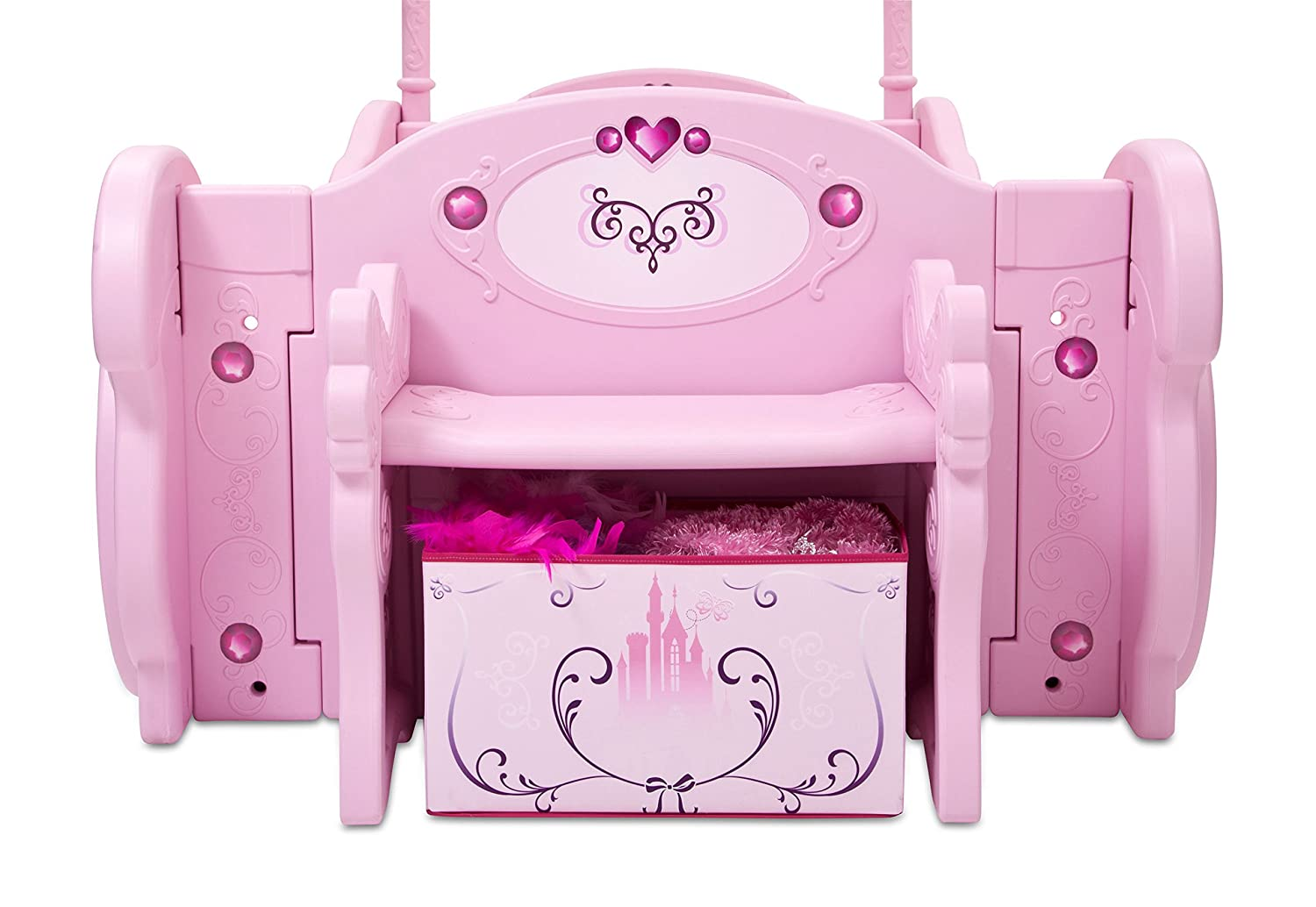 Princess carriage toddler bed - Amazon Com Delta Children Disney Princess Carriage Toddler To Twin Bed Baby