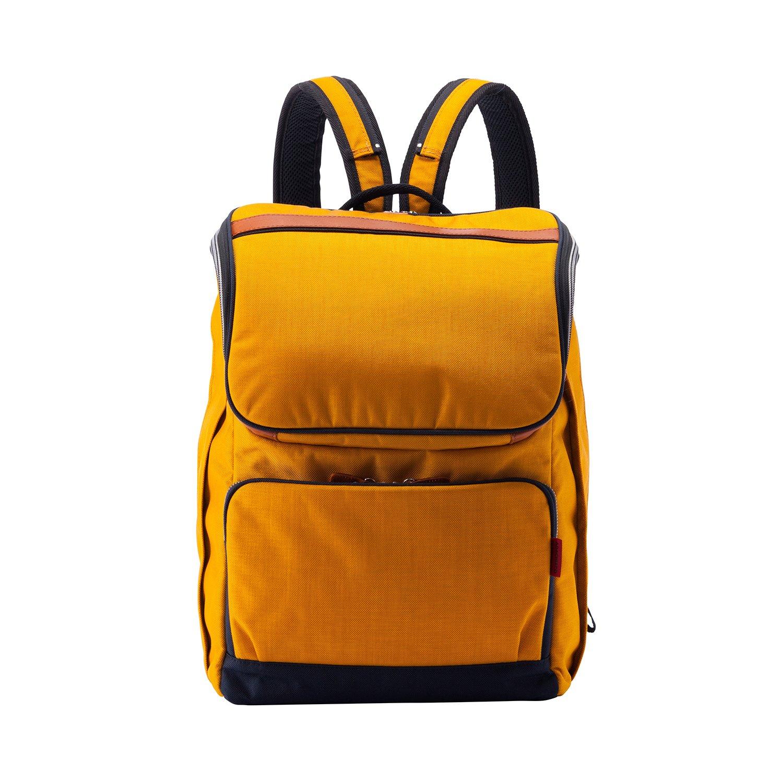 [豊岡鞄 ALBAPIE(アルバピエ) ] リュック ショルダーバッグ マルチアパートメントリュック 軽量 2way 5605 B07D472XV7 ゴールド×ネイビー