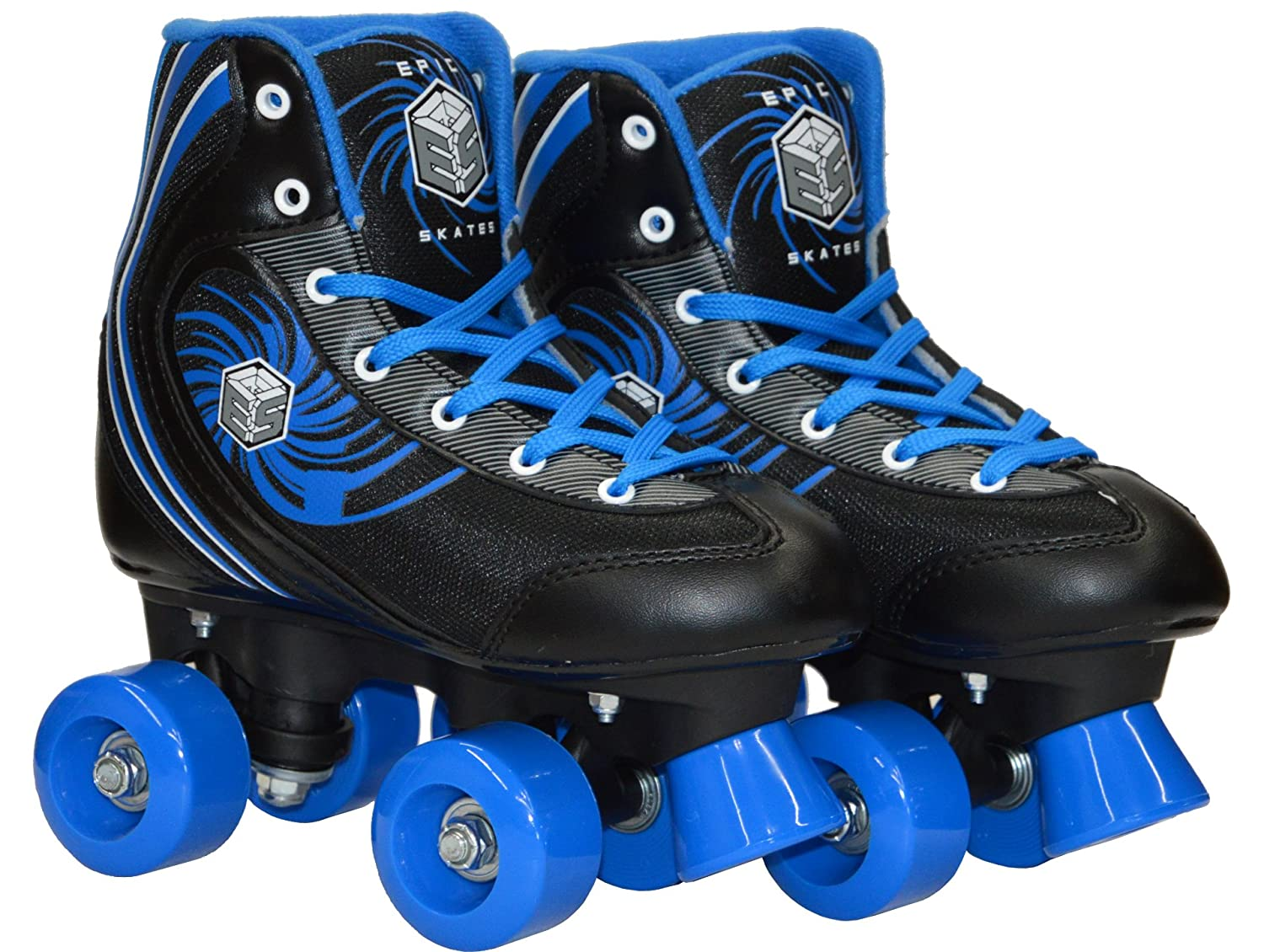New Epic Rock Candy Quad Roller Skate 4Pc. Bundle w Skate Bag Safety Pads