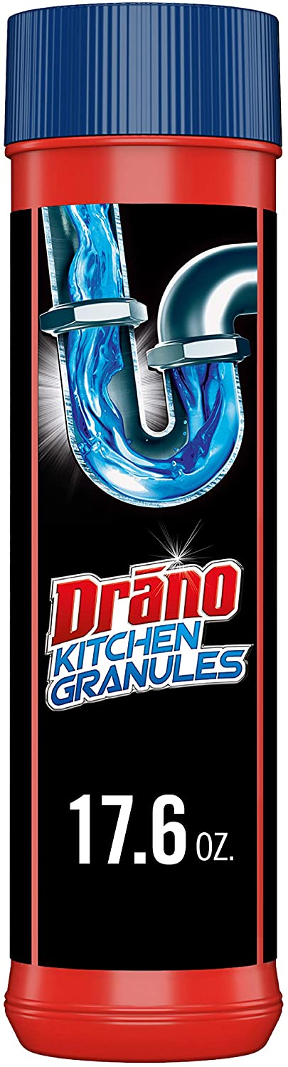 Drano Kitchen Granules Drain Clog Remover and Cleaner, Unclogs blockage from Grease or Cooking Oil, 17.6 oz: Health & Personal Care