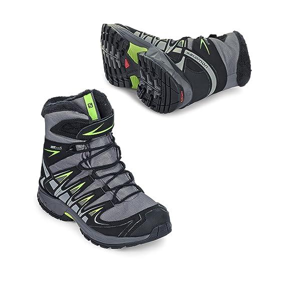 9ee081735658 Salomon XA Pro 3D Winter TS CSWP Kids detroit black green glow  Amazon.de   Sport   Freizeit
