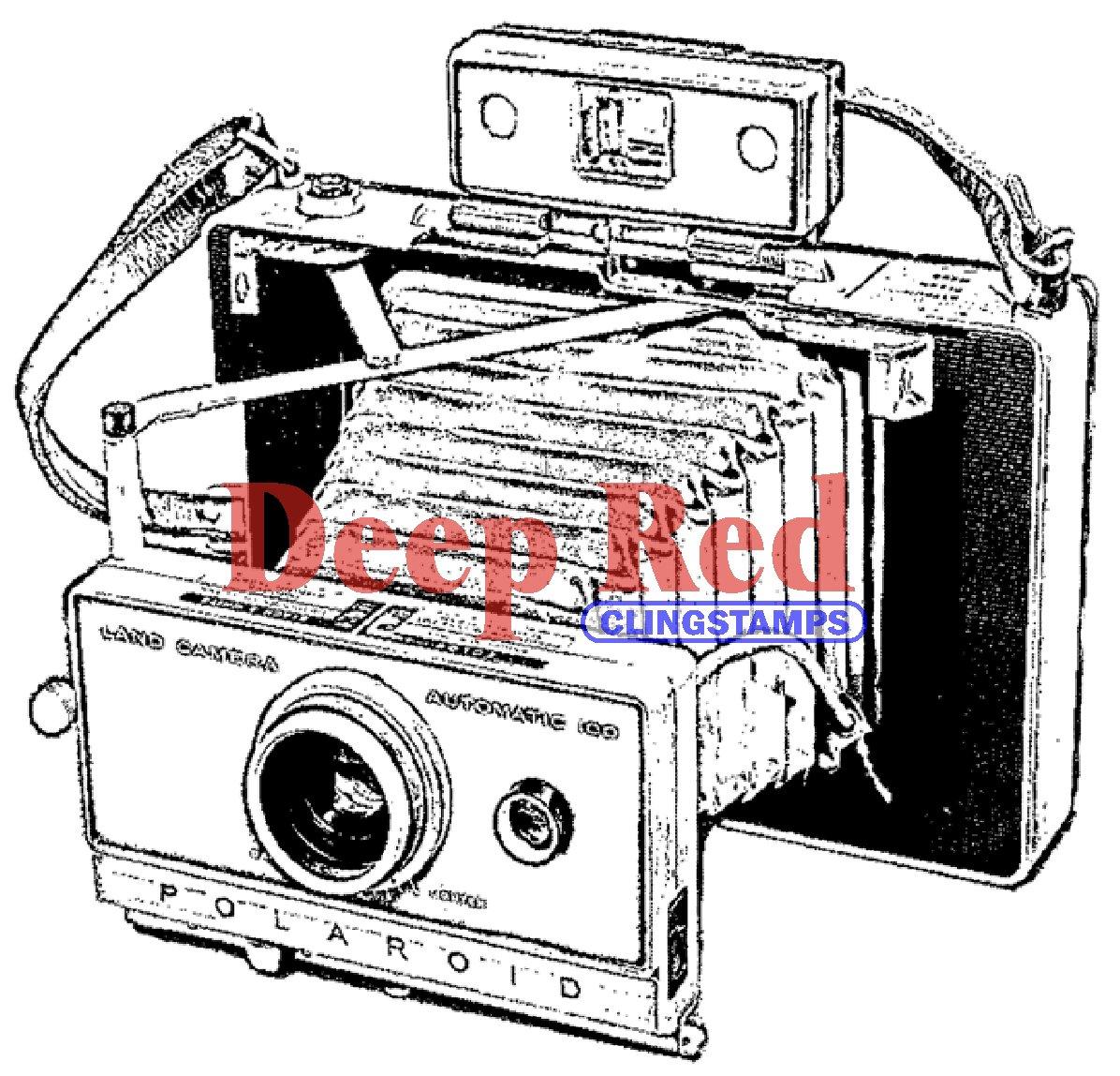 深い赤しがみつくスタンプ ポラロイド カメラ B00D0FK5DO