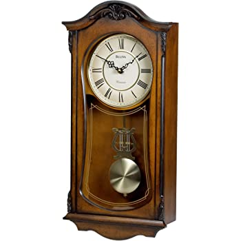 Amazon Com Seiko Wall Pendulum Schoolhouse Clock Dark