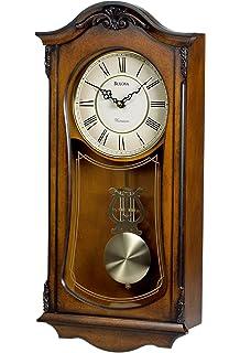 Superior Bulova C3542 Cranbrook Old World Clock, Walnut Finish
