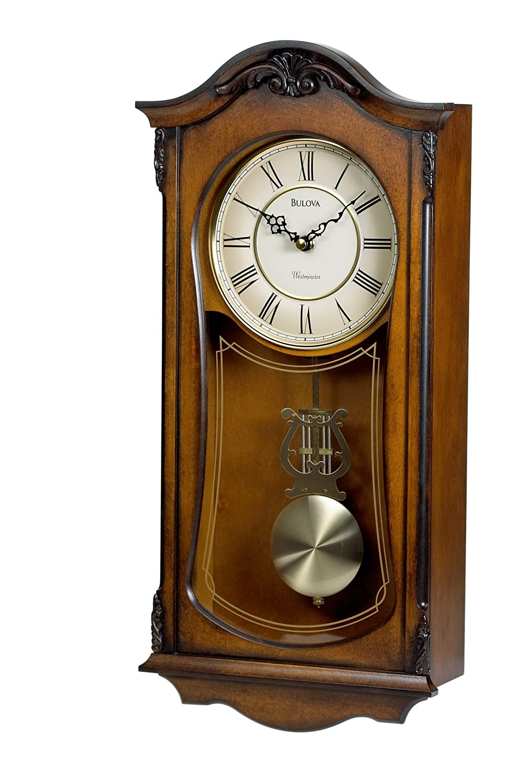 Amazoncom Bulova C3542 Cranbrook Old World Clock Walnut Finish