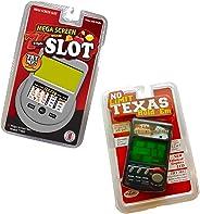 RecZone LLC No Limit Texas Holdem & Slot Machine Handheld Game Vegas Gambling Electronic Travel Game Pack