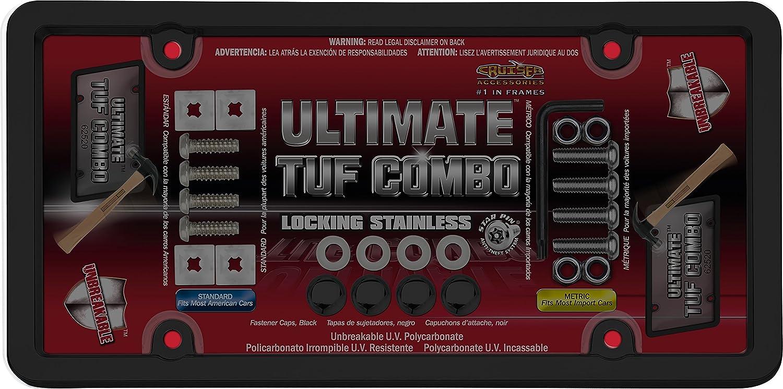 Cruiser Accessories 62520 Ultimate Tuf Combo License Plate Shield/Cover, Black/Smoke